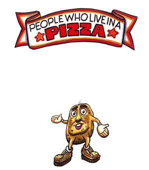 """Children's Book """"People Who Live in a Pizza"""" Car Mug"""