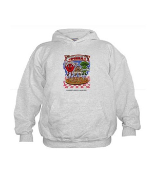 """Children's Book """"People Who Live in a Pizza"""" Hoodie"""
